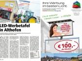 Led-Großflächenwerbung-Zeitungsbericht