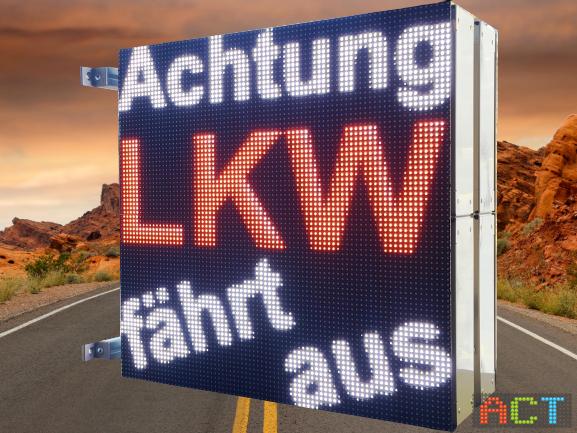 LED-Warntafel