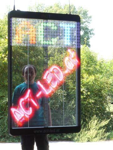 Durchsichtiges LED Videoplakat