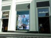 Videowand im Ladenlokal