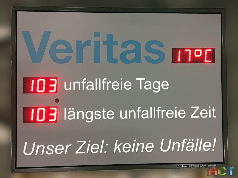 ACT GmbH LED-Displays - Hinweisschild unfallfrei seit ...