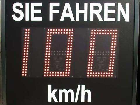 LED-Geschwindigkeitsanzeige