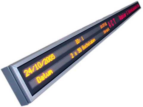 Mehrzeiliges LED-Display