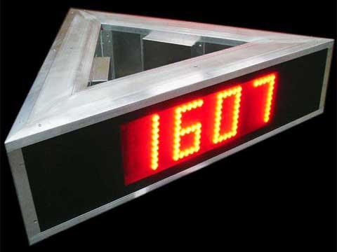 LED-Zeit- und Temperaturanzeige