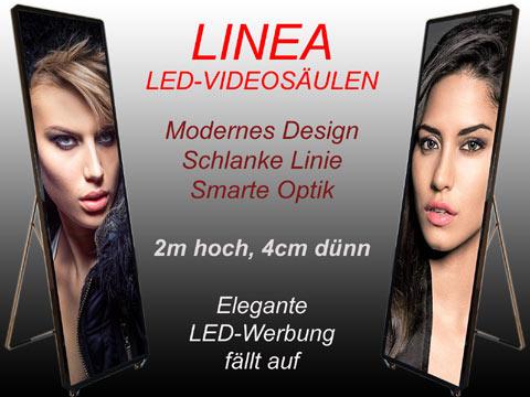 Linea-LED-Videosaeulen
