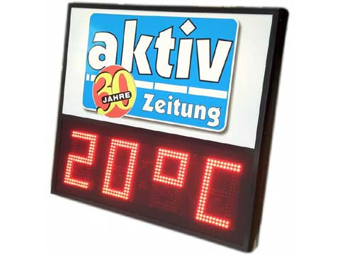 Zeit-Temperatur-Anzeige