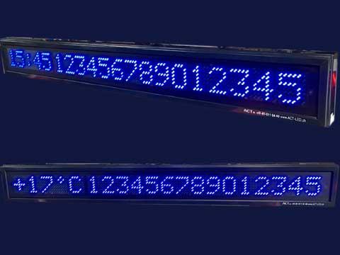 Blaue Laufschrift