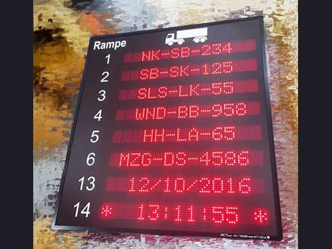 LKW Ladestellen-Display
