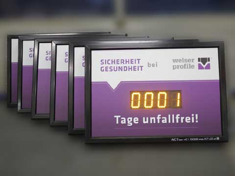 Unfallfreie Tage Archives - ACT GmbH LED-Displays