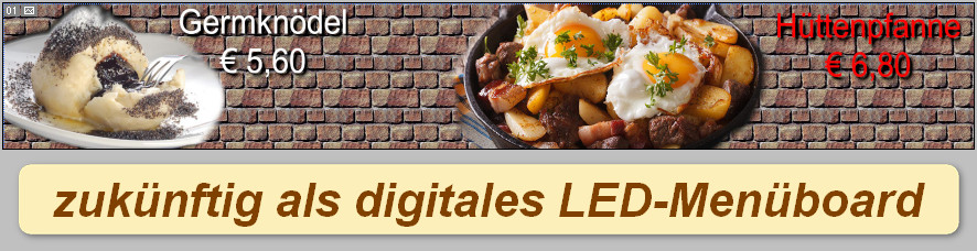 Digitales-LED-Menueboard