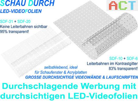 LED-Videofolien